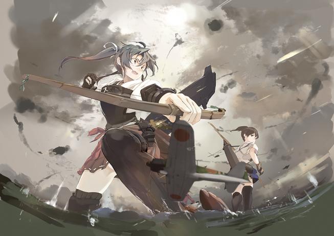 anime_wallpaper_Kantai_Collection_zuikaku_kaga-081915.png